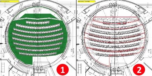 Plano de instalación del Bucle Magnético de Inducción